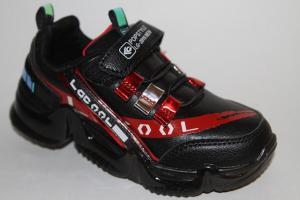 Фото Спортивная обувь, КРОССОВКИ, Большие размеры Кроссовки 30001 черный/красный