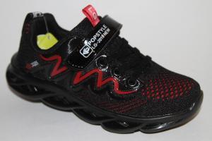Фото Спортивная обувь, КРОССОВКИ, Большие размеры Кроссовки 30133 черный/красный