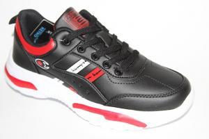 Фото Спортивная обувь, КРОССОВКИ, Большие размеры Кроссовки 0077 черный/красный