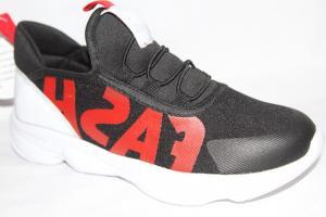 Фото Спортивная обувь, КРОССОВКИ, Большие размеры Кроссовки BD203-D черный/красный