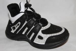 Фото Спортивная обувь, КРОССОВКИ, Большие размеры Кроссовки 8387-2 черный
