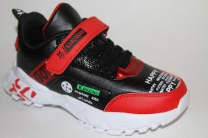 Фото Спортивная обувь, КРОССОВКИ, Большие размеры Кроссовки В-837 черный/красный