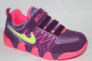 Фото Спортивная обувь, КРОССОВКИ, Большие размеры Кроссовки 8709 фиолетовый