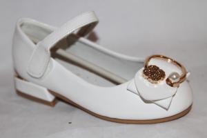 Фото Туфли, Туфли девочки до 32 Туфли Q122-1856-2 белый