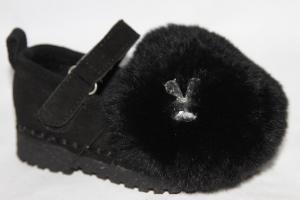 Фото Туфли, Туфельки до 26 девочки Туфли S16-1 черный