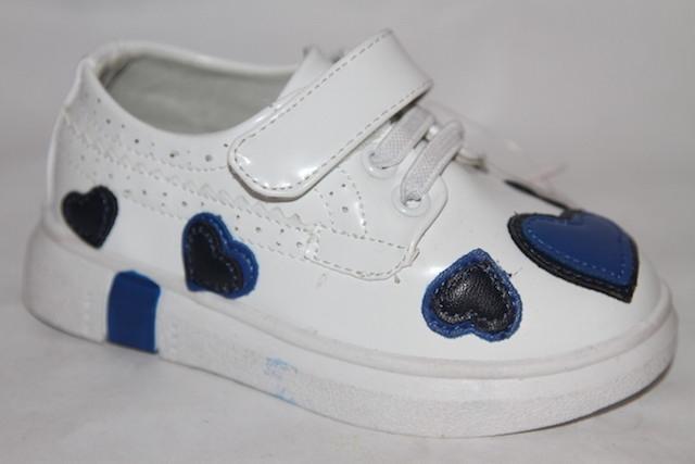 Туфли DK-801 белый/синий