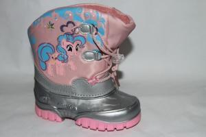 Фото Сноубутсы.Тех-Мембрана, Маленькие размеры Ботинки 1584-9 серый/розовый