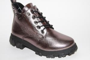 Фото Демисезонная обувь, Демисезонная обувь девочки до 38 Ботинки 9910-3А бронза