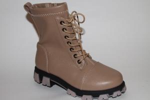 Фото Демисезонная обувь, Демисезонная обувь девочки до 38 Ботинки 9910-2А бежевый