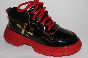Фото Демисезонная обувь, Демисезонная обувь девочки до 38 Ботинки 198-5А красный