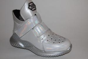 Фото Демисезонная обувь, Демисезонная обувь девочки до 38 Ботинки 16083-R305 серебро