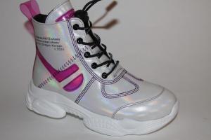 Фото Демисезонная обувь, Демисезонная обувь девочки до 38 Ботинки 1980-R324 белый