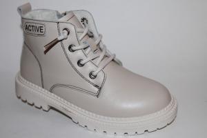 Фото Демисезонная обувь, Демисезонная обувь девочки до 38 Ботинки 155-18-3 бежевый