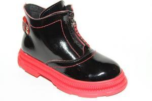 Фото Демисезонная обувь, Демисезонная обувь девочки до 38 Ботинки 19-9А красный