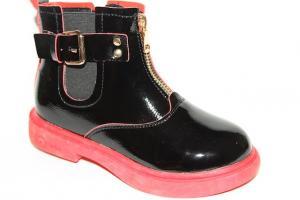 Фото Демисезонная обувь, Демисезонная обувь девочки до 38 Ботинки 19-2А красный