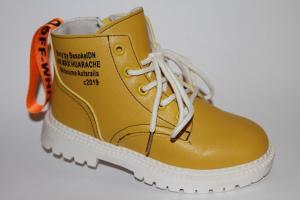 Фото Демисезонная обувь, Демисезонная обувь девочки до 38 Ботинки А-1968 желтый