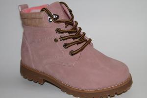 Фото Демисезонная обувь, Демисезонная обувь девочки до 38 Ботинки В163-31С розовый