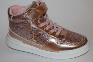 Фото Демисезонная обувь, Демисезонная обувь девочки до 38 Ботинки DQ 191-160С champagne