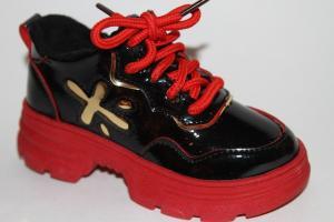 Фото Демисезонная обувь, Демисезонная обувь девочки до 32 Ботинки 198-5В красный