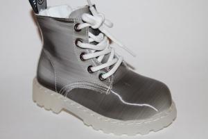 Фото Демисезонная обувь, Демисезонная обувь девочки до 32 Ботинки 96023-1 серый