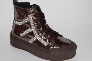 Фото Демисезонная обувь, Демисезонная обувь девочки до 32 Ботинки FZ888-1В коричневый