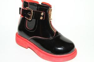Фото Демисезонная обувь, Демисезонная обувь девочки до 32 Ботинки 19-2В красный