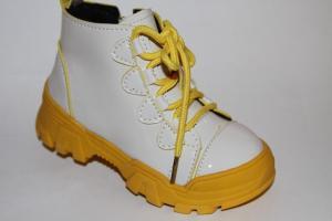 Фото Демисезонная обувь, Демисезонная обувь девочки до 32 Ботинки 19-1 бежевый/желтый