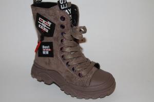 Фото Демисезонная обувь, Демисезонная обувь девочки до 32 Ботинки 9556 коричневый
