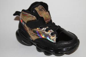 Фото Демисезонная обувь, Демисезонная обувь девочки до 32 Ботинки DK-199А золотой