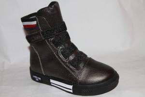 Фото Демисезонная обувь, Демисезонная обувь девочки до 32 Ботигнки D5080-А169 бронза