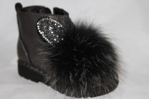 Фото Демисезонная обувь, Демисезонная обувь девочки до 32 Ботинки DK-7560-В серый