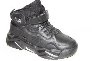 Фото Демисезонная обувь, Ботинки мальчики до 38 Ботинки АХ035-9522В черный