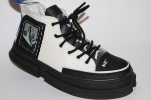 Фото Демисезонная обувь, Ботинки мальчики до 38 Ботинки NK19531-А черный