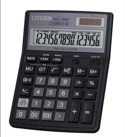 Калькулятор настольный бухгалтерский 16р. SDC-395N Citizen