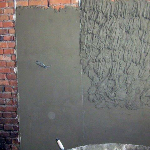 Штукатурка стен (по маякам)