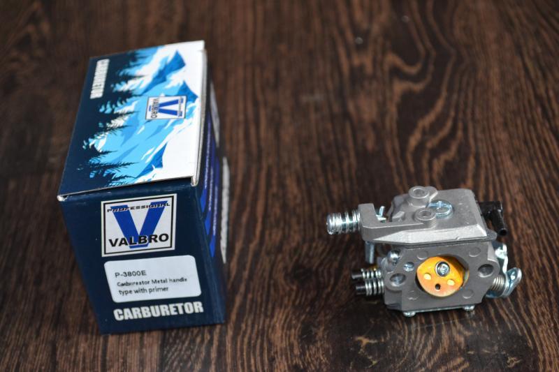 Карбюратор на бензопилу  Parther 3800Е  с подкачкой
