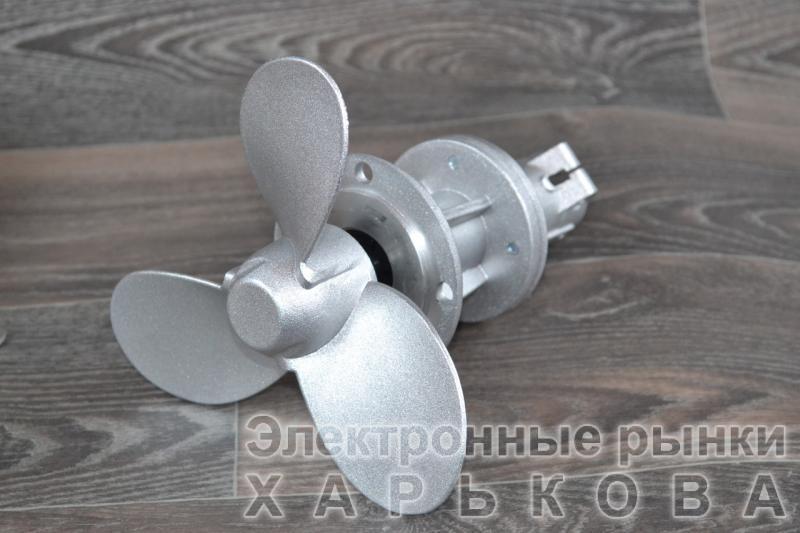 Лодочный гребной винт на мотокосу  9 шлицов  под трубу d- 28 мм - Запчасти и комплектующие для мотокос и триммеров на рынке Барабашова