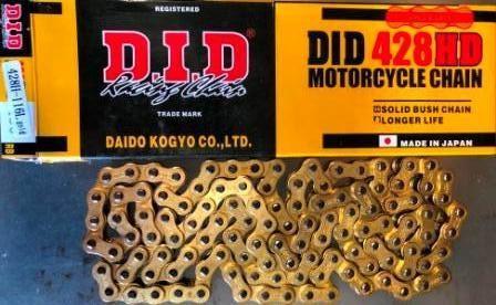 Цепь 428H-116L  gold     D.I.D.  качество