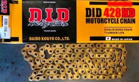Цепь 428H-104L  gold     D.I.D.  качество