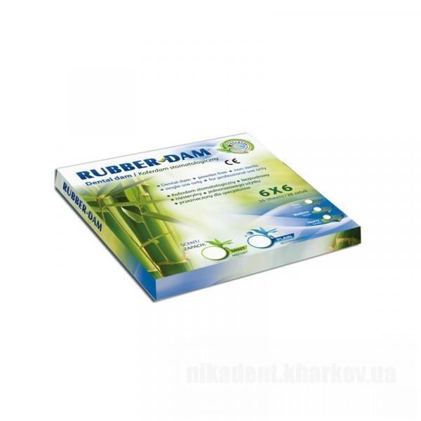 Фото Для стоматологических клиник, Инструменты и материалы для коффердама Платки для набора RUBBER-DAM (medium mint green)