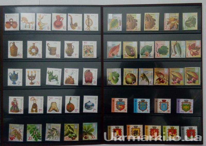 Фото Почтовые марки Украины, Сувенирные буклеты с почтовыми марками Украины Сувенирный буклет все серии СТАНДАРТНЫХ ПОЧТОВЫХ МАРОК :