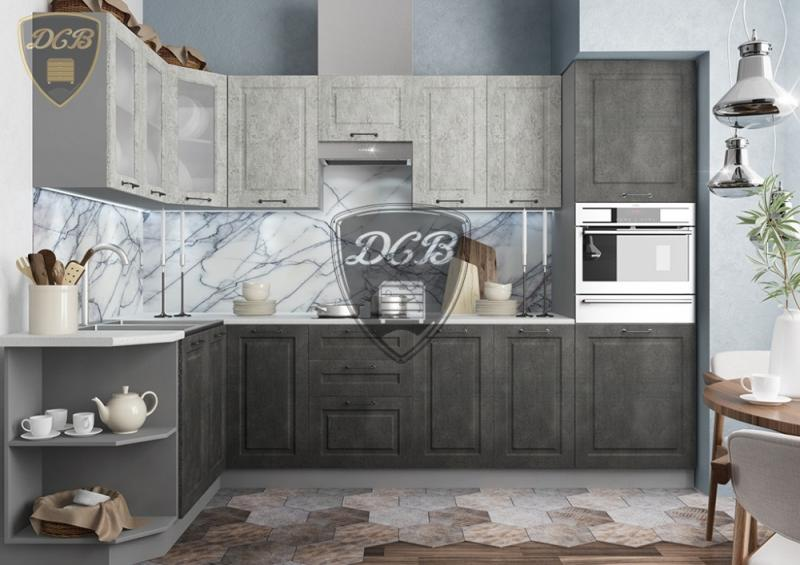 Фото  Кухня Капри камень темный (ДСВ)
