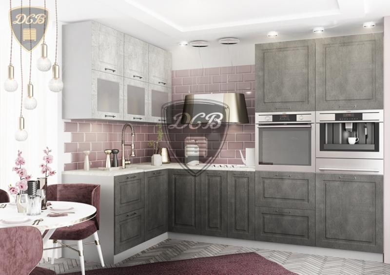 Фото Кухни модульные Кухня Капри камень темный/камень светлый (ДСВ)