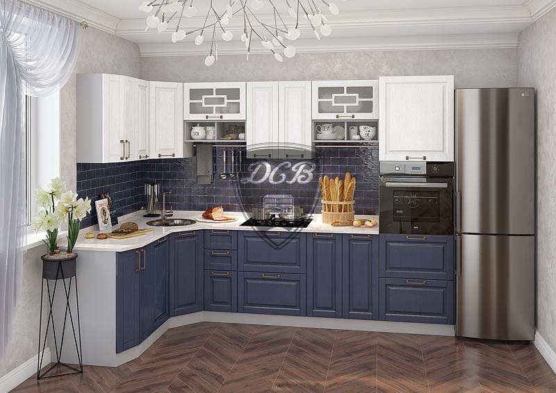 Фото Кухни модульные Кухня Гарда джинс/белый (ДСВ)