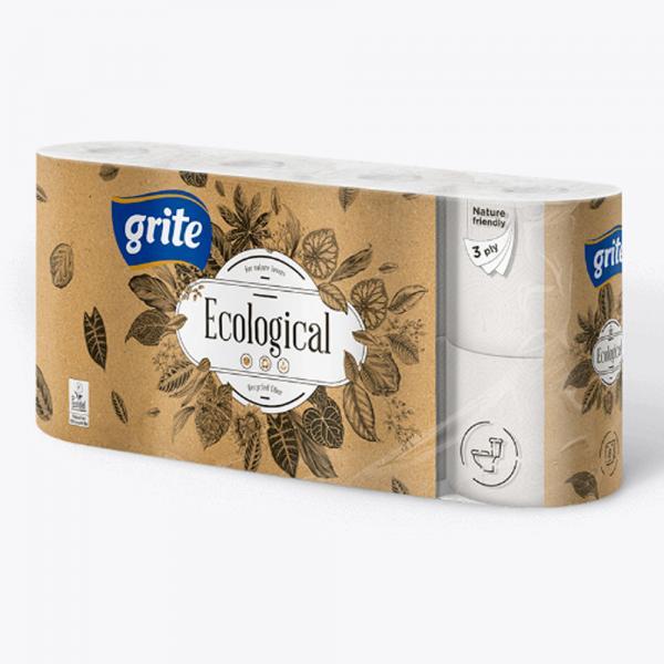 Бумага туалетная GRITE Ecological 14,85 м. (4, 8 в/уп) Цены см. подробнее
