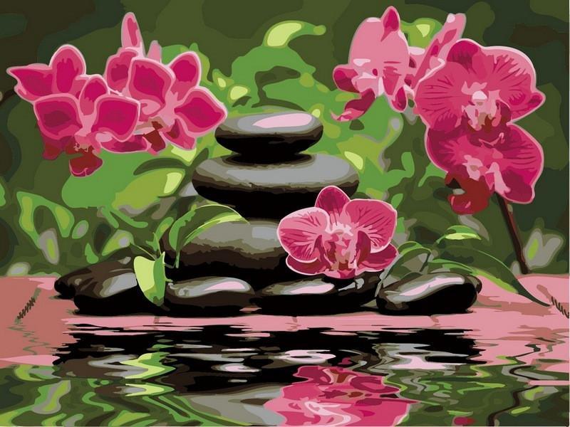 Фото Картины на холсте по номерам, Букеты, Цветы, Натюрморты VK 014