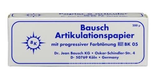 Фото Для зуботехнических лабораторий, АКСЕССУАРЫ, Артикуляционная бумага и окклюзионные спреи ВК 05 Артикуляционная бумага (Синяя) Bausch 200 mkm