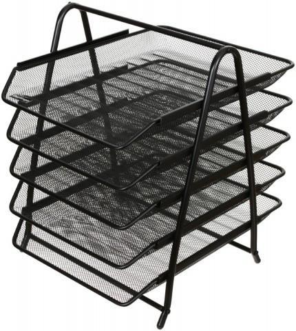 Лоток горизонтальный Steel & Style 5 секций 350*270*30 мм, черный