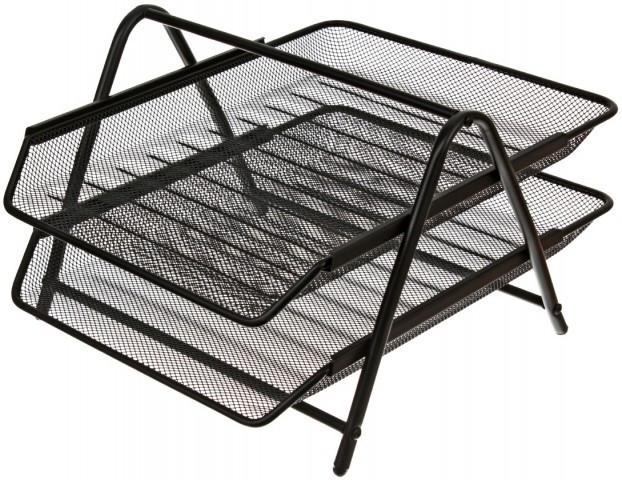 Лоток горизонтальный Steel & Style 2 секции 205*260*30 мм, черный