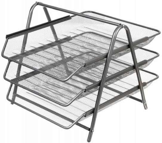 Лоток горизонтальный Steel & Style 3 секции 355*260*30 мм, серебро